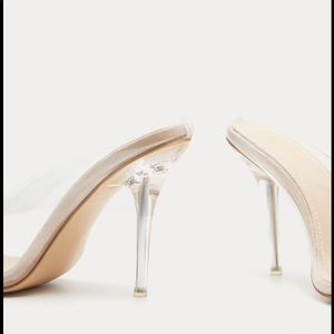 440322fa85 PrettyLittleThing Shoes | Nude Clear Mule Court | Poshmark